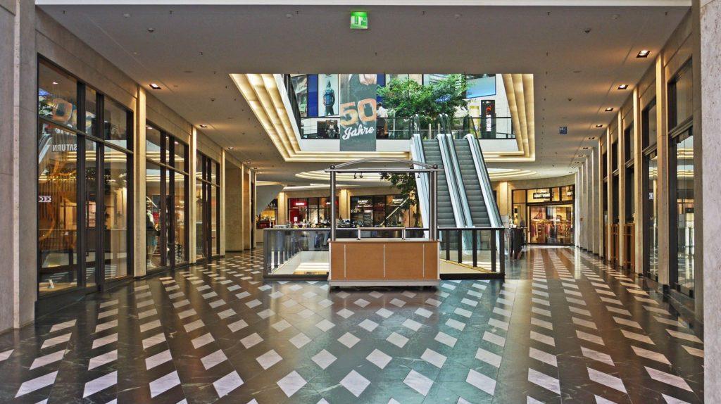 An empty shopping mall.