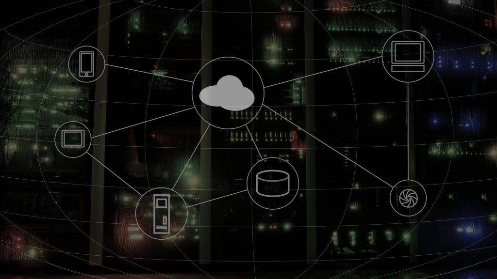 A diagram depicting a cloud network.