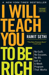 The cover of Ramit Sethi's I Will Teach You to Be Rich.