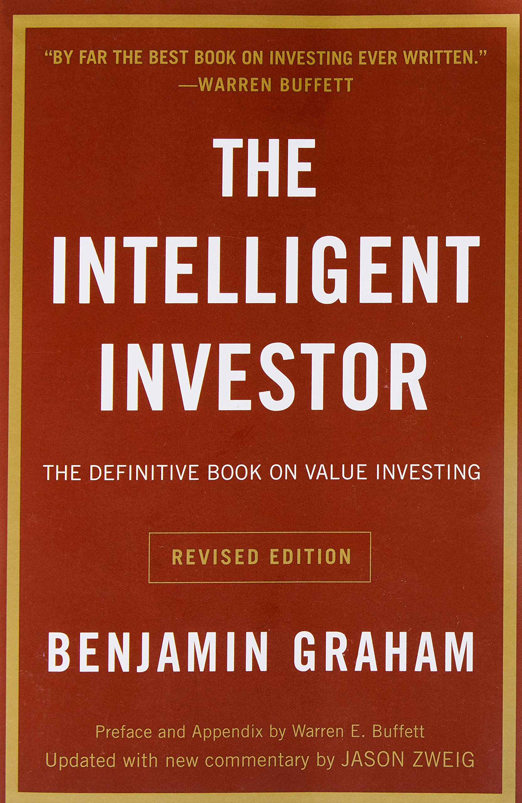 The cover of The Intelligent Investor by Benjamin Graham.