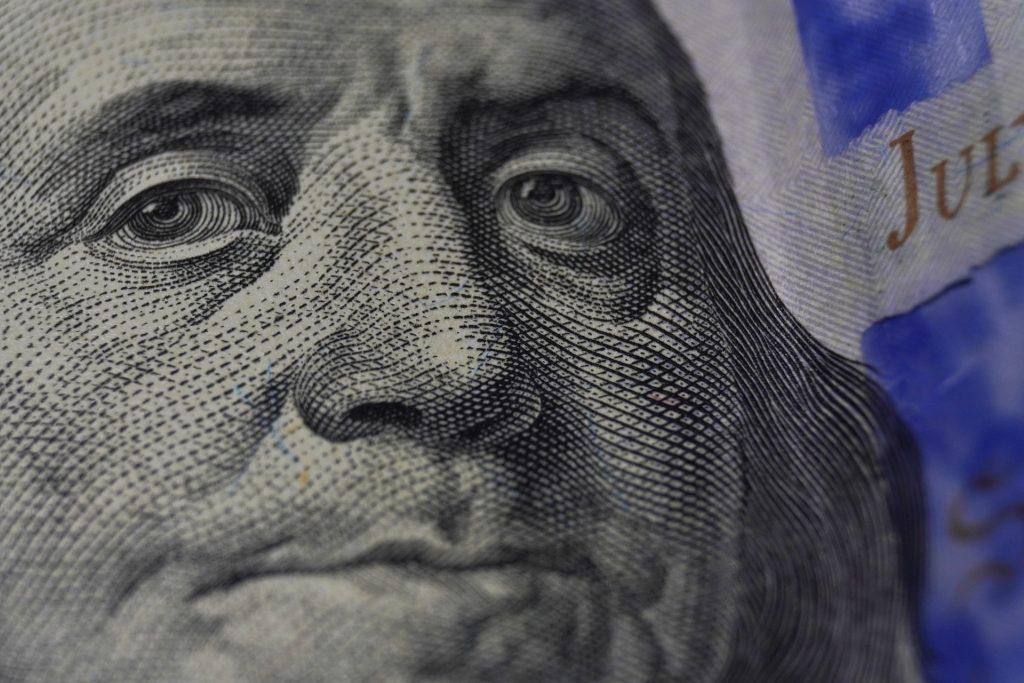 A closeup photo of Benjamin Franklin